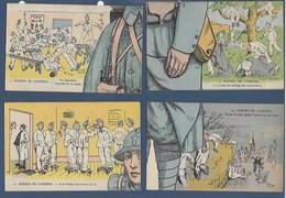 Lot 8 Cartes Pour  Puzzle  Humoristiques La Gaité A La Caserne - Humour