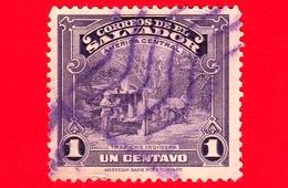 EL SALVADOR - Usato - 1938 - Vedute - Mulino Di Canna Da Zucchero - Trapiche Indigena - 1 - El Salvador