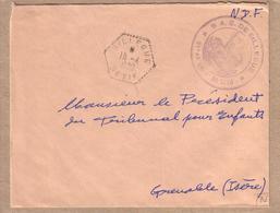 ALGERIE - AGENCE POSTALE - LETTRE DE SILLEGUE POUR GRENOBLE - 1959 - Algerien (1924-1962)