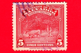 EL SALVADOR - Usato - 1938 - Vedute - Agricoltura - Indigeno Che Ara - Arado Indigena - 5 - El Salvador