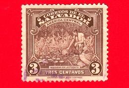 EL SALVADOR - Usato - 1938 - Vedute - Ragazza Indigena Prende Acqua - 3 - El Salvador