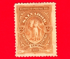 Nuovo - MH - EL SALVADOR - 1890 - Vittoria In Un Ovale - 2 - El Salvador