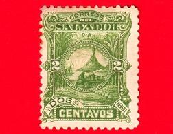 Nuovo - MH - EL SALVADOR - 1891 - Locomotive Davanti Al Vulcano San Miguel - 2 - El Salvador