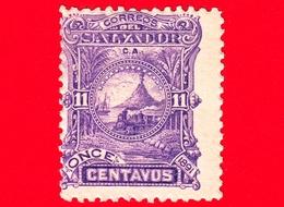 Nuovo - MH - EL SALVADOR - 1891 - Locomotive Davanti Al Vulcano San Miguel - 11 - El Salvador