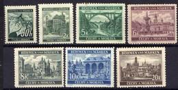 Böhmen Und Mähren 1940 Mi 55-61 * [070419XXVI] - Occupation 1938-45