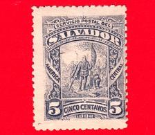 Nuovo - MH - EL SALVADOR - 1892 - Cristoforo Colombo - Landing Of Columbus - 5 - El Salvador