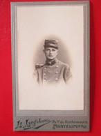 Militaria  - Photographie Ancienne CDV - Jeune Militaire Du 52 ème RI  à MONTELIMAR  - Photo Lang Jeune  - Cf. Annonce - Krieg, Militär
