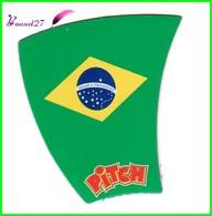 """Magnet PITCH Les Drapeaux Des Pays """" Le Brésil """" - Letters & Digits"""