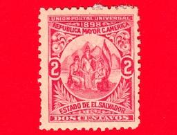 Nuovo - MH - EL SALVADOR - 1898 - Allegoria Dell'Unione Centroamericana - 2 - El Salvador