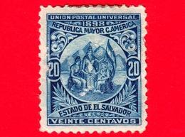 Nuovo - MH - EL SALVADOR - 1898 - Allegoria Dell'Unione Centroamericana - 20 - El Salvador