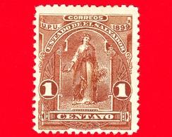 Nuovo - MH - EL SALVADOR - 1899 - Allegoria Dell'Unione Centroamericana - 1 - El Salvador