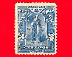 Nuovo - MH - EL SALVADOR - 1899 - Allegoria Dell'Unione Centroamericana - 3 - El Salvador