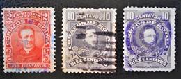 PERSONNALITES 1912 - OBLITERES - YT 9 + 100 - VARIETES DE TEINTES - Bolivia