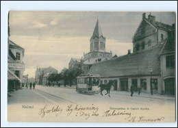 XX003901/ Malmö Östergatan  Pferdebahn AK 1905 Schweden  - Zweden