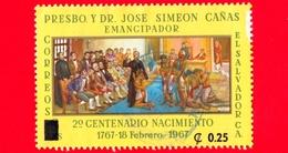 EL SALVADOR - Usato - 1967 - Padre José S. Cańas - 0.25 Sovrastampato Su 6 - El Salvador
