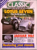 CA023 Autozeitschrift Classic & Sports Car, November 1994, Englisch, Neuwertig - Deportes