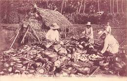PIE.F-19-3303 : ILES SOUS LE VENT. RAIATEA. PREPARATION DU COPRAN - French Polynesia