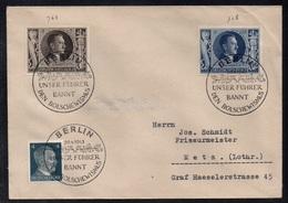 20 AVRIL 1943 - 54e ANNIVERSAIRE D' HITLER / BERLIN OBLITERATIONS SUR LETTRE POUR METZ (ref 7562) - Lettres & Documents