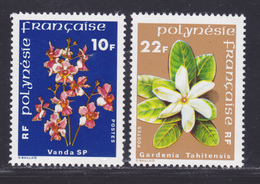 POLYNESIE N°  128 & 129 ** MNH Neufs Sans Charnière, TB (D8850) Flore, Fleurs De Polynésie -1979 - Neufs