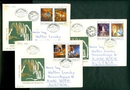 Romania 1978 FDC Caves Stalactite Stalagmite Cover Letter - 1948-.... Républiques