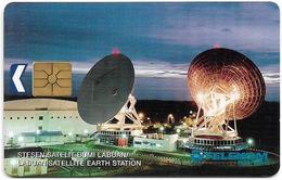 Malaysia - Kadfon - Labuan Satellite Earth Station - (Gemplus Symmetric Black)  5RM, Used - Malaysia