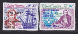 POLYNESIE AERIENS N°  130 & 131 ** MNH Neufs Sans Charnière, TB (D8852) Navigateur James Cook - 1978 - Poste Aérienne