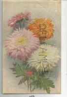 Bouquet De Chrysanthèmes. Signé Arnitabe(?). Oilette - Fleurs