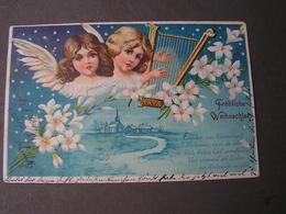 Engel , Weinachten Aus Weinheim Litho 1902 - Angeles