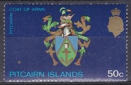 Pitcairn 1973 Geschichte History Wappen Coat Of Arms Heraldry Ranken Vines Anker Anchor, Mi. 129 ** - Pitcairn