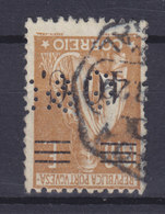 Portugal Perfin Perforé Lochung 'G&C?' 40 C. Auf 1.00 E Ceres Mit Aufdruck Overprinted (2 Scans) - Variétés Et Curiosités