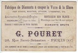 Paris - C.D.V. Fabrique De Diamants à Couper Le Verre, Sertisseur Sur Bijoux - G. Pourret 26 Rue Saint Sébastien - Distretto: 11
