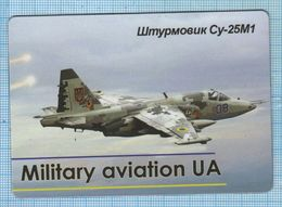 UKRAINE / Flexible Magnet / Military Aviation UA. Air Force. Stormtrooper SU-25M1. Frogfoot. - Transport