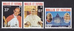 WALLIS ET FUTUNA AERIENS N°   86 à 88 ** MNH Neufs Sans Charnière, TB (D8855) Papes Paul VI Et Jean Paul 1er - 1979 - Aéreo