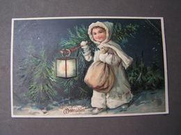 Kind Mit Laterne , Weinachten 1907 Aus Zürich - Weihnachten