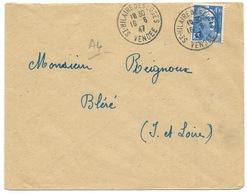 MARIANNE DE GANDON 4f50 BLEU / ST HILAIRE DES LOGES VENDEE 1947 - 1921-1960: Periodo Moderno