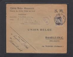 LETTRE D'UN SOLDAT,ARMÉE BELGE FRONT,POUR BAARLE_DUC,VIA TILBURG,1918. - Poststempel