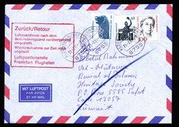 A6036) Bund Brief Alzenau 25.02.91 Retour Wegen Kuwaitkrieg Roter Retourstempel - BRD