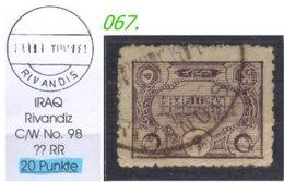 EARLY OTTOMAN SPECIALIZED FOR SPECIALIST, SEE...Stempel - ITAQ - RIVANDIZ -RR- - 1858-1921 Empire Ottoman