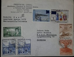 L) 1959 COLOMBIA, FRANCISCO JOSE DE CALDAS, 25C, GREEN, WORLD GEOPHYSICAL YEAR, LAS LAJAS SANCTUARY, BLUE, VIRGIN DE CHI - Colombia