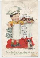 """Petit Garçon Cuisinier: """"Pour Ce Nouvel An, Je Vous Souhaite Tout Ce Que Vous Pourrez Désirer De Bon!"""". Chien, Bavoir. - Humour"""