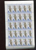 Belgie 1967 1466 Abbaye St Laurent Liege Abbey Abdij Luppi Full Sheet  MNH Plaatnummer 2 - Feuilles Complètes