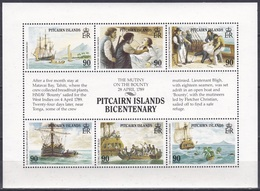 Pitcairn 1989 Geschichte History Seefahrt Schiffe Ships Meuterei Mutiny Bounty Bligh Christian Matavai-Bay, Bl. 11 ** - Briefmarken