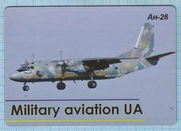 UKRAINE / Flexible Magnet / Military Aviation UA. Air Force. Transport Aircraft AN-16. Antonov. - Transport