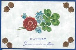 D'AULNAY   Je Vous Envoie Ces Fleurs    écrite En 1907 - France