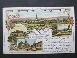 AK HARMANNSDORF RÜCKERSDORF B. Korneuburg Litho Schwidernoch 1898  ///   D*37769 - Korneuburg