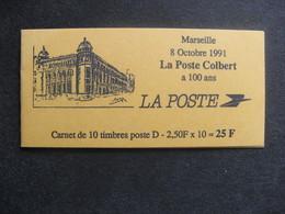 RARE Et TB Carnet N° 2712 - CP1: M De Marseille Sans Trait Parasite,  Neuf XX. - Usage Courant