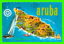 MAP - CARTE GÉOGRAPHIQUE - ARUBA, THE LITTLE DUTCH ISLE IN THE NETHERLANDS ANTILLES - - Cartes Géographiques