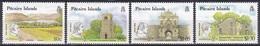 Pitcairn 1990 Philatelie Philately Briefmarkenausstellung STAMP WORLD LONDON Architektur Bauwerke Buildings, Mi. 356-9** - Briefmarken