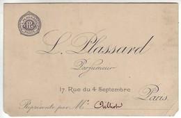 Paris - C.D.V. L.Plassard - Parfumeur - 17 Rue Du 4 Septembre - Distretto: 04