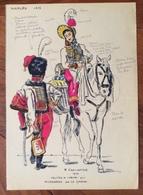 UNIFORMI MILITARI NAPLES 1813  HUSSARDS  DE LA GARDE Di R.FORTHOFFER 1975 (15X20) Con Didascalie E Autografo - Uniformes